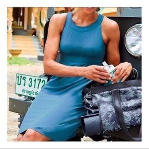 Athleta Teal blue voyage dress
